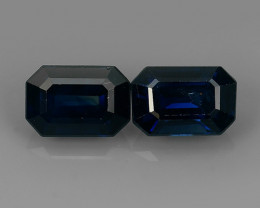 1.60 CTS MAJESTIC RARE NATURAL BLUE SAPPHIRE MADAGASCAR PAIR BEAUTY!!