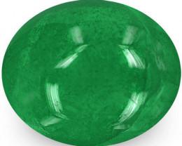 Zambia Emerald, 1.57 Carats, Deep Green Oval