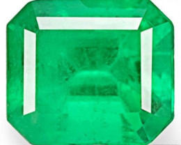Colombia Emerald, 0.67 Carats, Intense Green Emerald Cut