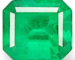 Colombia Emerald, 0.67 Carats, Intense Green Emerald Cut