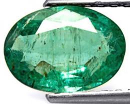 Zambia Emerald, 1.65 Carats, Deep Green Oval