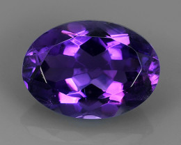 5.30 CTS NOBLE OVAL CUT PURPLE AMETHYST~ OVAL URUGUAY WONDERFUL GEM!