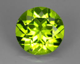 1.85 CTS~JEWEL SET!PERIDOT WORLD SERIES BEAUTIFUL 8 MM ROUND BEAUTY!!