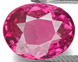 Sri Lanka Pink Sapphire, 1.13 Carats, Dark Pink Oval