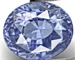 IGI Certified Sri Lanka Blue Sapphire, 5.02 Carats, Velvety Blue Oval