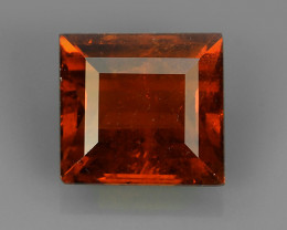 2.80 CTS OUTSTANDING! OCTAGON ORANGE RED NATURAL SPESSARTITE GARNET NR!