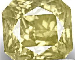 IGI Certified Sri Lanka Yellow Sapphire, 10.10 Carats, Light Yellow