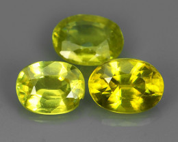 2.50 CTS BEAUTIFUL NATURAL RARE-YELLOWISH GREEN-SEMI-PRECIOUS-SPHENE NR!!
