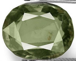 AIGS Certified Australia Fancy Sapphire, 2.35 Carats, Greyish Green Oval