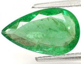 GII Certified Zambia Emerald, 2.14 Carats, Intense Green Pear