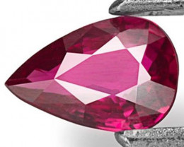 Mozambique Ruby, 0.38 Carats, Purplish Red Pear