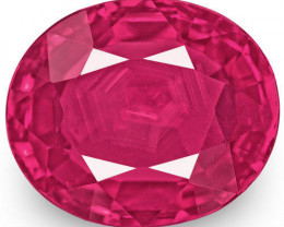 Mozambique Ruby, 1.67 Carats, Pinkish Red Oval