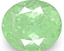Colombia Emerald, 3.21 Carats, Bluish Green Oval
