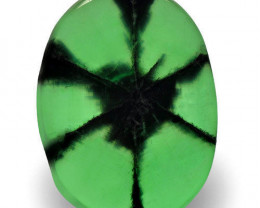 Colombia Trapiche Emerald, 2.63 Carats, Lively Intense Green Oval