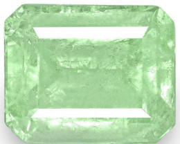 Colombia Emerald, 4.76 Carats, Lustrous Bluish Green Emerald Cut