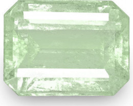 Colombia Emerald, 4.50 Carats, Pale Green Emerald Cut