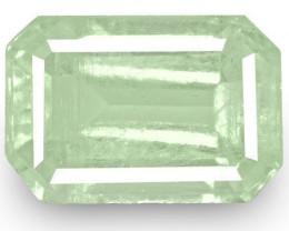 Colombia Emerald, 4.19 Carats, Soft Bluish Green Emerald Cut