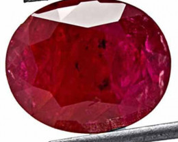 GII Certified Mozambique Ruby, 2.73 Carats, Blood Red Oval
