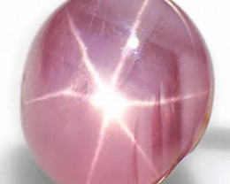 Burma Fancy Star Sapphire, 6.60 Carats, Dark Pink Oval