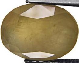 Madagascar Fancy Sapphire, 4.95 Carats, Light Green Oval