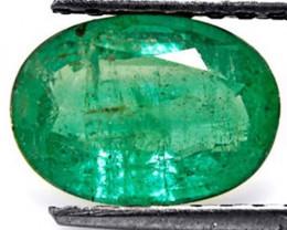 Zambia Emerald, 1.76 Carats, Grass Green Oval