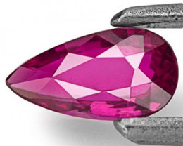 Mozambique Ruby, 0.37 Carats, Purplish Red Pear