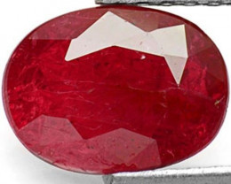 Mozambique Ruby, 1.60 Carats, Deep Red Oval
