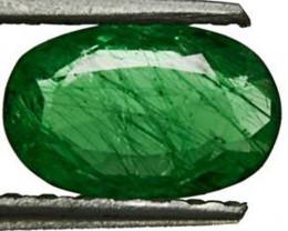 Zambia Emerald, 1.02 Carats, Intense Green Oval