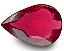 GRS Certified Mozambique Ruby, 3.07 Carats, Blood Red Pear