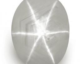 IGI Certified Sri Lanka Fancy Star Sapphire, 8.16 Carats, Whitish Grey Oval