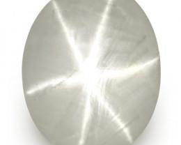IGI Certified Sri Lanka Fancy Star Sapphire, 6.68 Carats, Whitish Grey Oval