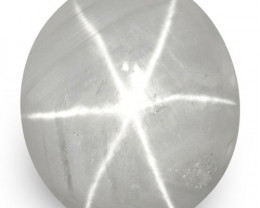 IGI Certified Sri Lanka Fancy Star Sapphire, 12.11 Carats, Bluish Grey Oval