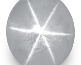 IGI Certified Sri Lanka Blue Star Sapphire, 12.66 Carats, Soft Greyish Blue