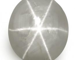 IGI Certified Sri Lanka Fancy Star Sapphire, 8.54 Carats, Grey Oval