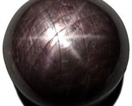 Madagascar Black Star Sapphire, 16.06 Carats, Black Round