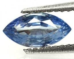 Sri Lanka Blue Sapphire, 0.88 Carats, Deep Blue Marquise