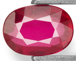 Mozambique Ruby, 0.42 Carats, Pinkish Red Oval