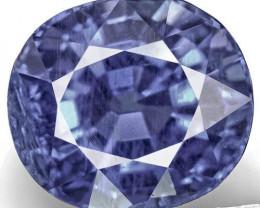 GIA & GII Certified Madagascar Blue Sapphire, 6.64 Carats, Fiery Vivid Blue