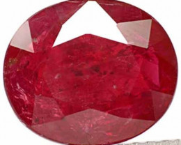 AIGS Certified Tanzania Ruby, 2.67 Carats, Blood Red Oval