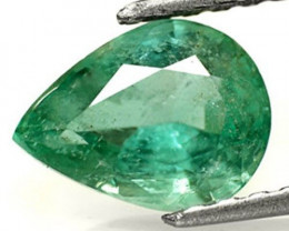 Zambia Emerald, 1.46 Carats, Dark Green Pear