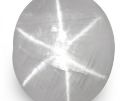 IGI Certified Sri Lanka Fancy Star Sapphire, 8.14 Carats, Pale Bluish White