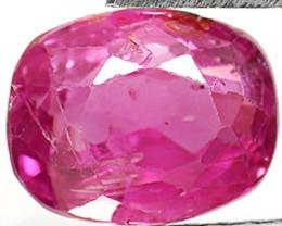 AIGS Certified Sri Lanka Pink Sapphire, 1.75 Carats, Deep Purplish Pink