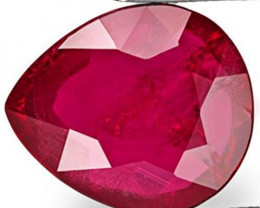 Mozambique Ruby, 3.68 Carats, Deep Magenta Red Pear