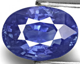 GIA Certified Kashmir Blue Sapphire, 4.03 Carats, Oval