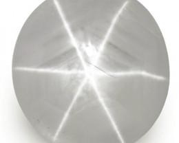 IGI Certified Sri Lanka Fancy Star Sapphire, 5.53 Carats, Soft Bluish Grey