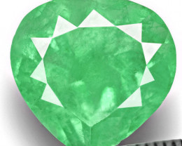 Colombia Emerald, 1.59 Carats, Pastel Green Heart