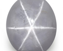 IGI Certified Sri Lanka Fancy Star Sapphire, 7.80 Carats, Greyish Violet