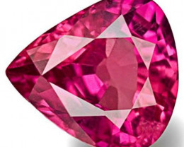 IGI Certified Mozambique Ruby, 0.55 Carats, Hot Pinkish Red Pear