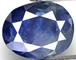 GRS Certified Kashmir Blue Sapphire, 2.73 Carats, Deep Blue Oval