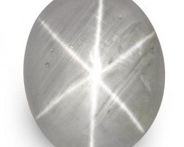 IGI Certified Sri Lanka Fancy Star Sapphire, 4.94 Carats, Blue-Grey Oval
